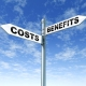 Picture of a Crossroads between Costs and Benefits