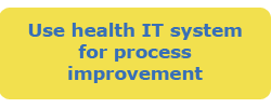 Use health IT system for process improvement